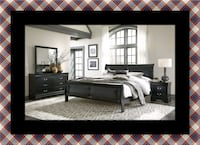 11pc Black Marley bedroom set 52 km