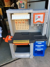 Step2 Deluxe Workshop Playset.  Accessories not included, but can be purchased online.  Excellent condition, just missing shop vac hose.  Approximately $125-$150 on Amazon with the accessories.   San Marcos, 92078