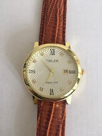 Men's genuine leather strap watch Brampton, L6R