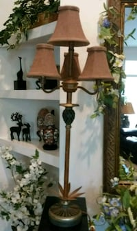 Vintage Tall Pineapple 4-Arm Table Lampshade Worki Chapel Hill