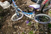 blue and white full suspension mountain bike Lawrence Township, 08648