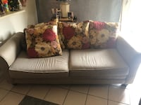brown and white fabric sofa Houston, 77075