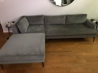West elm 3 piece sectional  Austin