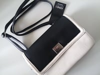 nwt Jones NY Crossbody Shoulder Bag black/white Burnaby
