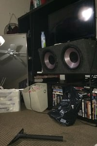 Stereo system sub rock wood subs