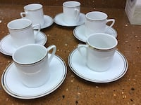 6 small cups and saucers $20.00 Harahan, 70123