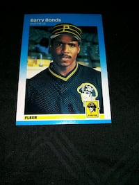 1987 FLEER BARRY BONDS ROOKIE BASEBALL CARD Upper Darby, 19026