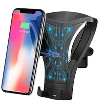 Brand new in box Wireless Car Charger Mount,2 in 1 Gravity Car Charger and Air Vent Phone Holder 马卡姆, L6E