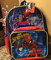 Spiderman backpack with lunchbag - brand new with tag Calgary, T2J