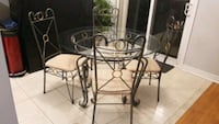 Dinette set - Glasstop Table and 4 Chairs. Richmond Hill, L4E 0K4