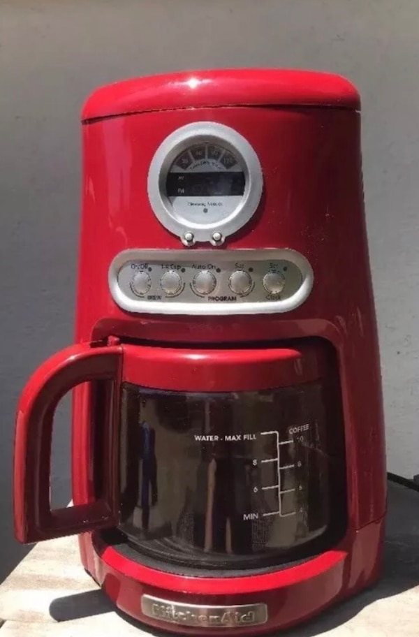 Kitchenaid Coffee Maker Red 12 Cup Javastudio Programable Personal Kcm511