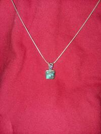Sterling silver and turquiose necklace Sherwood