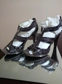 Michael Khors leather snake-skin open-toe sandals