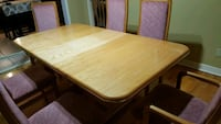 maple wood 7 pce dining table set Laval, H7E