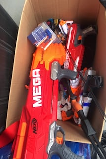 Nerf guns with bullets. Value well over $200