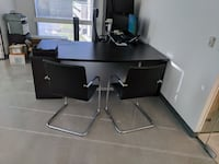 Brown wooden executive desk 13 km