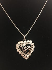 925 Sterling silver mother's heart pendant necklace - PICK IP ONLY Dayton, 45405