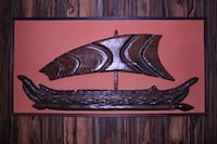 Wood Wall Relief Carving of Boat  TORONTO