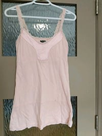 Pink top with lace straps and some silk size s/m Calgary, T2E 0B4