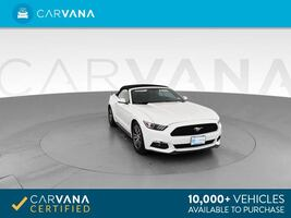 2015 Ford Mustang Convertible EcoBoost Premium Convertible 2D WHITE