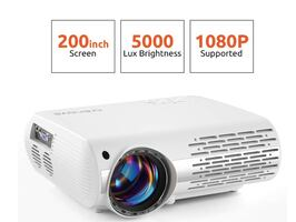Brand New In Box 5000 Lux Home Movie Projector(550 ANSI), 200'' Displa