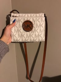 White and brown michael kors leather crossbody bag Lincoln, L0R