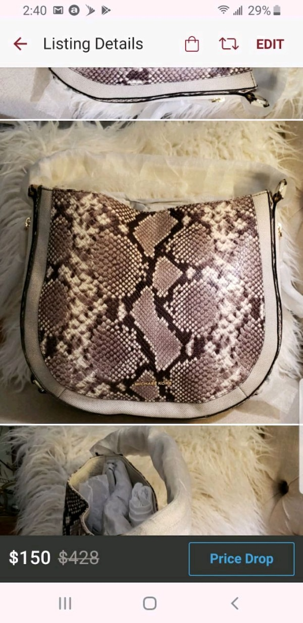 daa59bc9fef146 Used Michael Kors Cream Python Purse for sale in Chicago - letgo