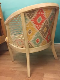Rattan Reupholstered Chair null