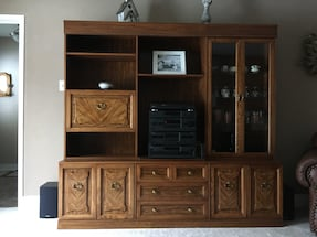 Beautiful vintage wall unit/display unit with lights