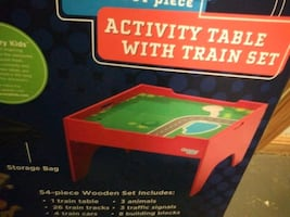 Kid's Activity Table and Train Set
