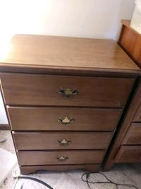 brown wooden 5-drawer chest Vienna, 22180