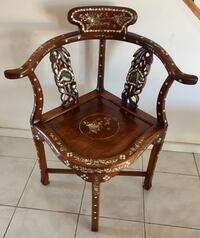 Chinese/Asian Antique Chair Mother of Pearl Inlay Richmond, V6V 2P1