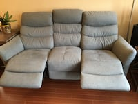 Power dual reclining grey sofa couch GUC  Victoria, V8Z