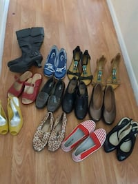 Assorted shoes W7 few pairs of clarks Bedford, B4A 1M1