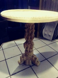Vntge Carved White Resin Celluloide oriental table San Juan, 78589