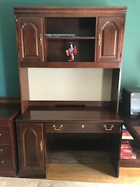 Mahogany Desk & Hutch Potomac