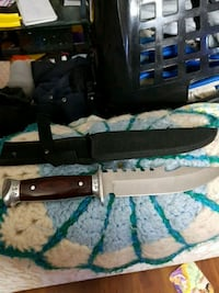 black and gray hunting knife with sheath Surrey, V3R 1N9