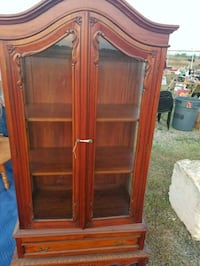 brown wooden framed glass display cabinet San Antonio, 78201