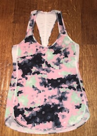 white, black, and green floral tank top Troy, 48084