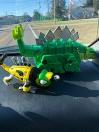 Dinotrux toys garbage truck and geico