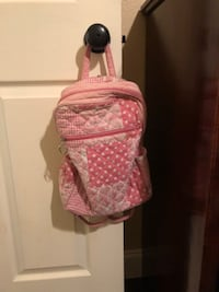 Pink and white multi pattern small backpack/purse Walker, 70785