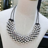 Women's white and black beaded necklace Chattanooga, 37411