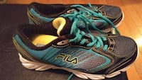 pair of black-and-teal FILA running shoes Moncton, E1E 4P2
