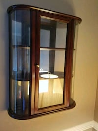 Cherry wall curio cabinet for small items Gaithersburg, 20879