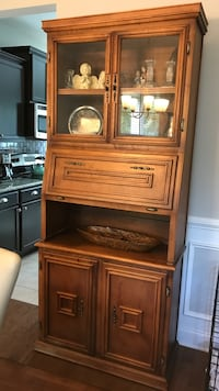 brown wooden TV hutch with flat screen television Myrtle Beach, 29579