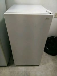 white single-door refrigerator Troy, 12180