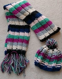 women scarf and hat  Mississauga, L5M 0P4