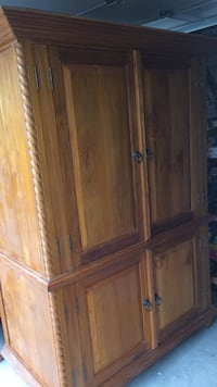 brown wooden 2-door cabinet Austin, 78759