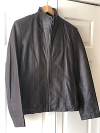 Brown leather women jacket size small-medium