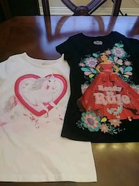 Girls white and black graphic t shirts.size 10/12 Jacksonville, 32224